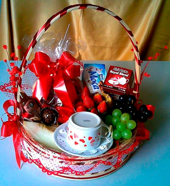 Basket for Mother's Day with cup