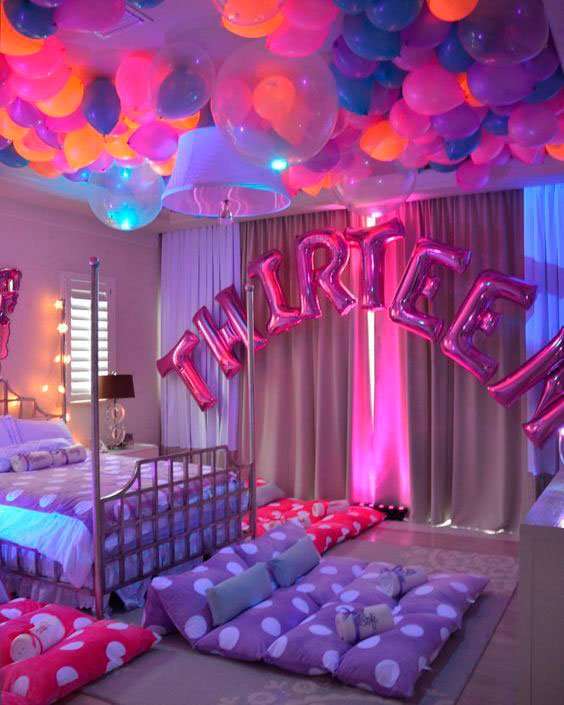 Bedroom slumber party