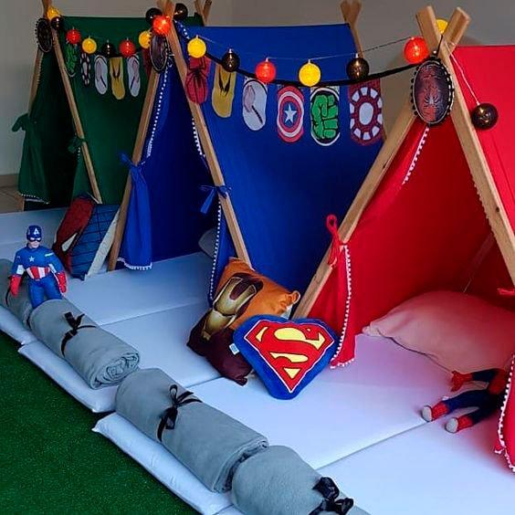 Superhero pajama party