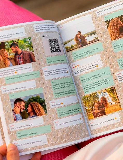 Book with messages and memories