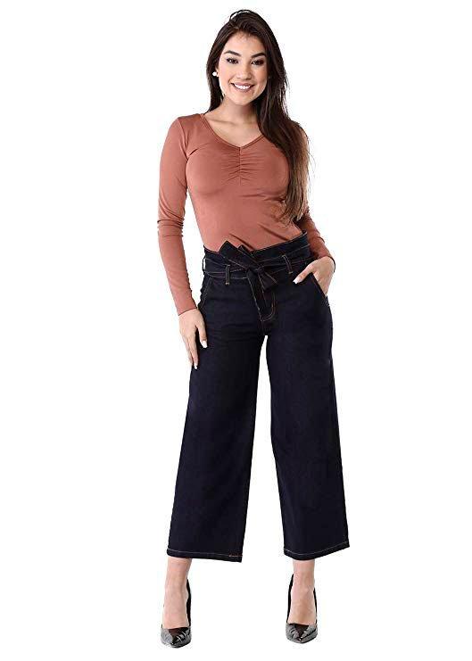 Gift pantacourt jeans for mom