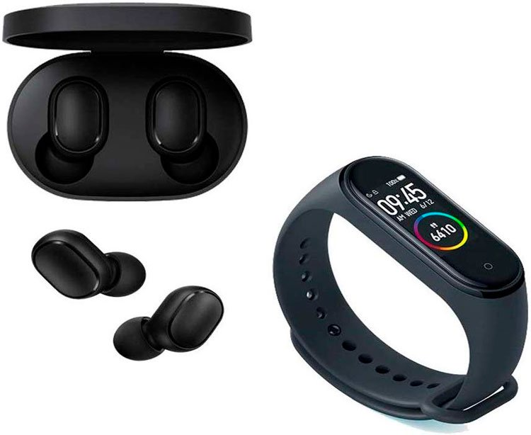 Smartwatch and wireless headset for tech mom