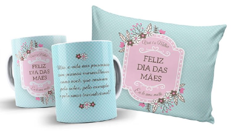 Personalized pillow and mug for Mother's Day