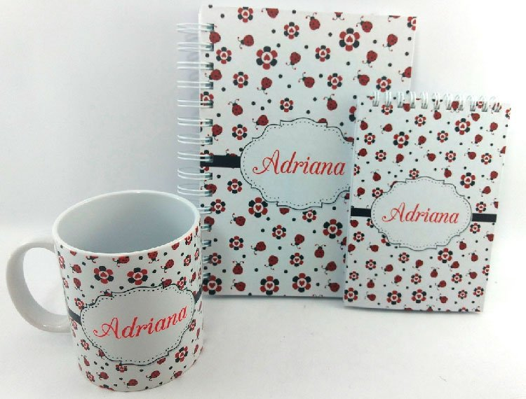Personalized notebook, notepad and mug for mom