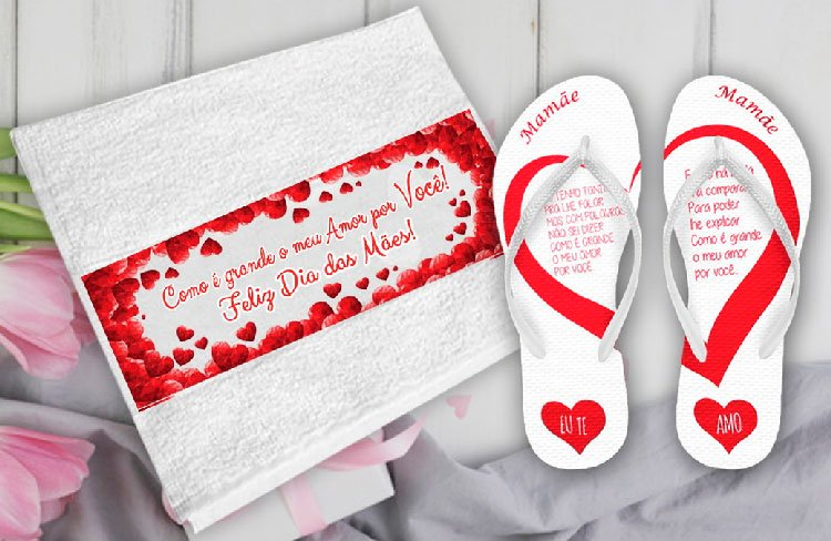 Personalized slipper and towel for Mother's Day