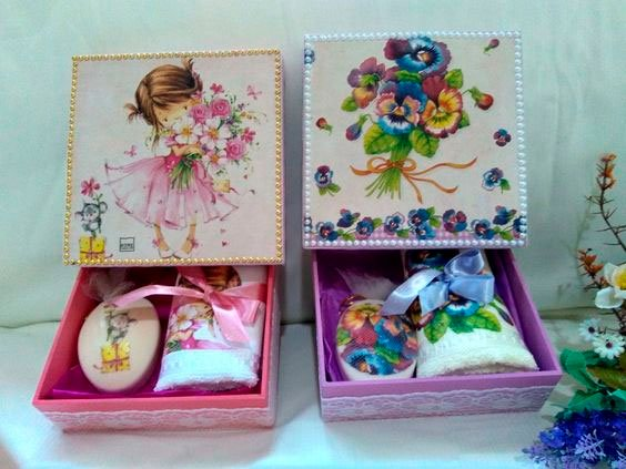Box, washcloth and soap for Mother's Day