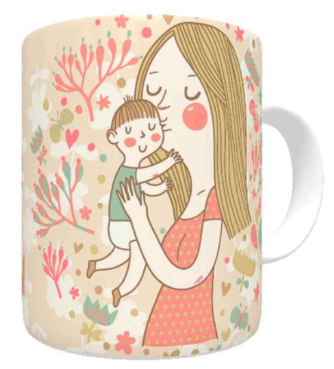 Mug for Mother's Day with loving design
