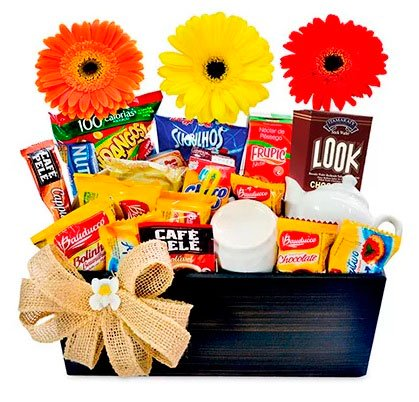 Baskets for Mother's Day with gerberas