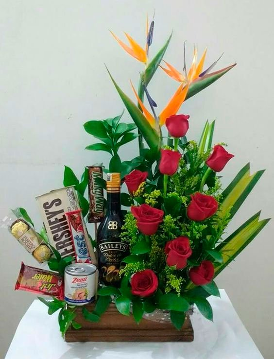 Basket with different arrangement for Mother's Day