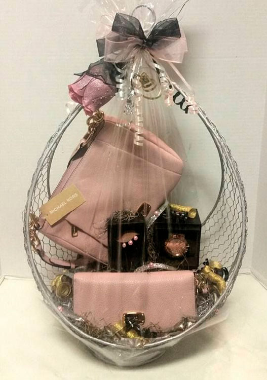 Basket with luxury items for Mother's Day
