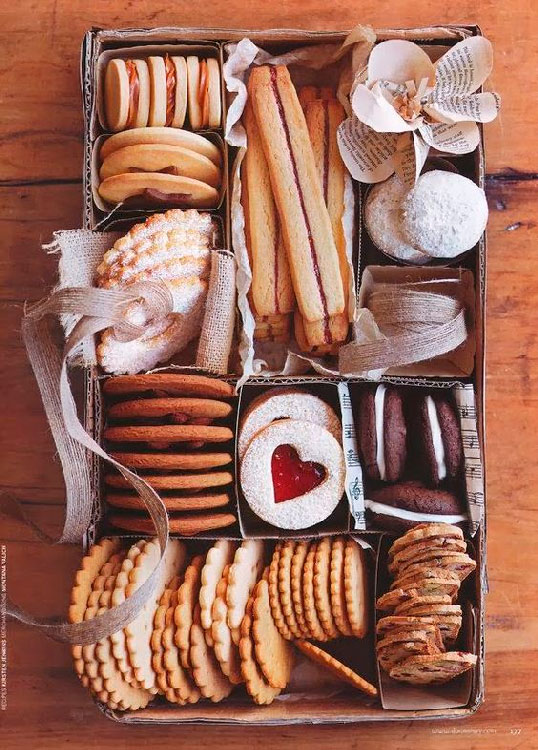 Basket of assorted cookies for mom