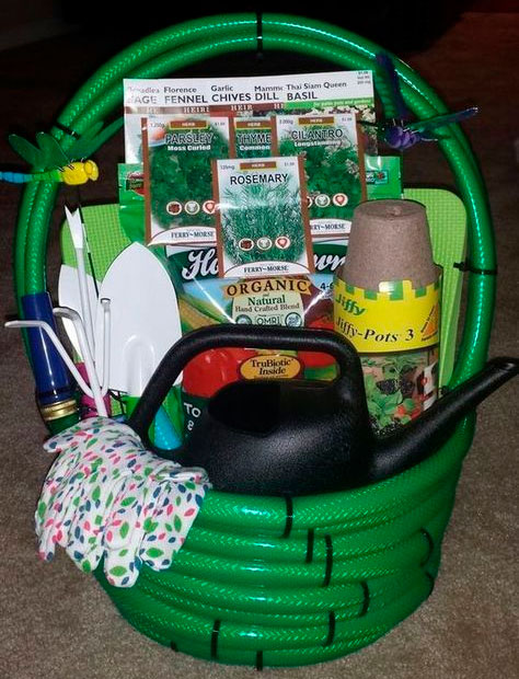 Mother gardening basket