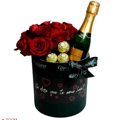 Wedding anniversary gifts »Chocolate, roses and sparkling wine