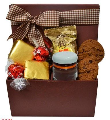 Basket of chocolates for girlfriend with many delights