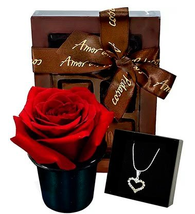 Chocolate and jewelry for the love of your life