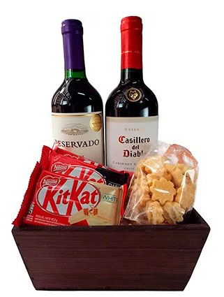 Gifts for boyfriend homemade »Chocolate and wine kit