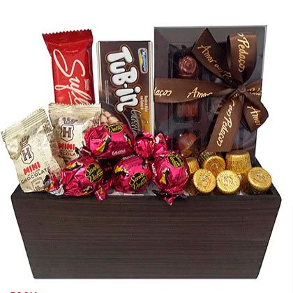 Basket of chocolates for dating anniversary