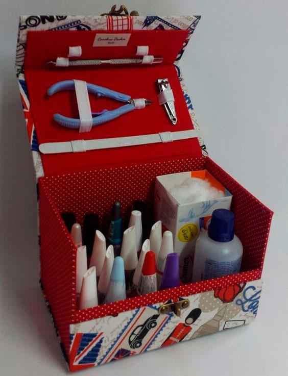 Caixinha de manicure de presente para mãe