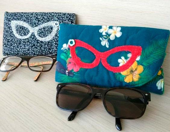Porta-óculos em tecido para mãe