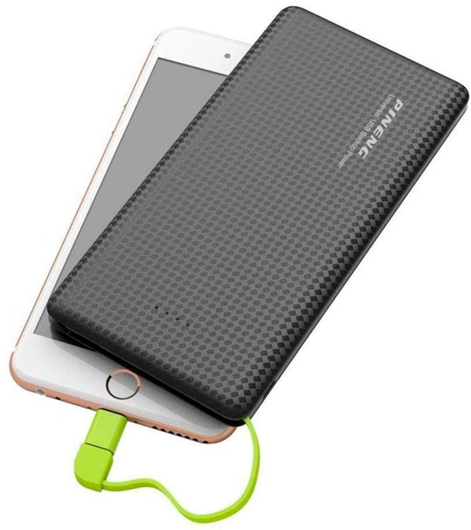 Portable cell phone charger for technology friend