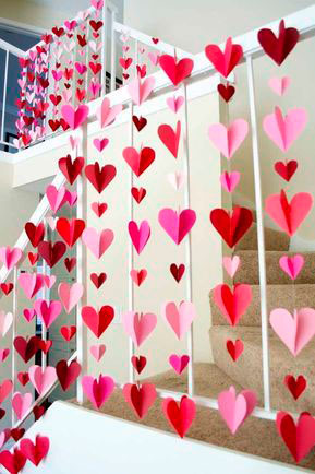 Decorate the house for Mother's Day with hearts