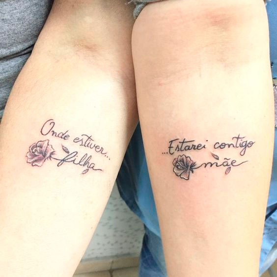 Get a mother and daughter tattoo